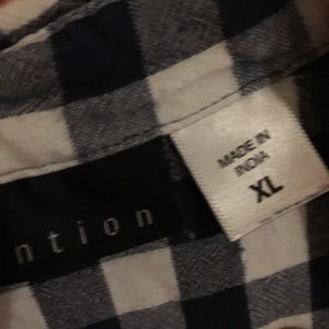 attention Tops - Attention plaid top sz XL